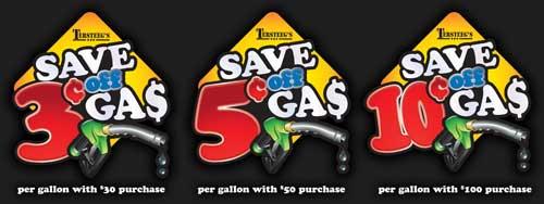 Tersteeg's Gas Promo